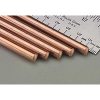 "COPPER SOLID ROD 1.59mm (1/16"") x 300mm (12"") 5PC"