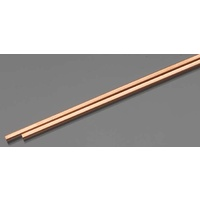 "COPPER SQUARE TUBE 3.2mm x 300mm (1/8"" x 12"") 2PC"