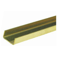 Brass C Channel 3.18mm x 1.59mm x 300mm 1pc