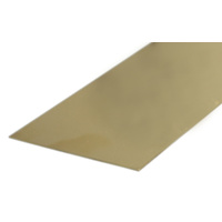 "BRASS STRIP 1.63mm X 6.35mm (.064 x 1/4"") x 300mm -12"""