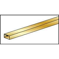 "BRASS RECTANGULAR TUBE 4.76mm x 9.53 x .355mm (3/16"" x 3/8"" x .014"")"