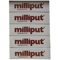 Milliput Terracotta Putty - 5 Pack