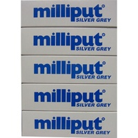 Milliput Silver Grey Putty - 5 Pack