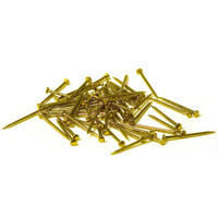 "Brass nails 0.7 x 8mm (0.028 x 5/16"") - 200 per pack"