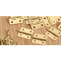 Mini Hinge Brass Gold 10 Pc/pkt with Screws