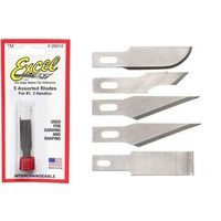Excel 20014 5pc Light Duty Knife Blade Set,