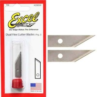 Excel 20059 2pc Dual Flex Cutter Replacement Blades - New Style