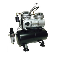 SPARMAX TC-620AST Mini Air compressor TWIN with tank - Auto Stop/gauge/regulator