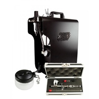 Pro Airbrushing Kit - Badger Krome & Sparmax 620X Air-Compressor
