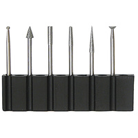 6 pc Engraving Bit Set - 2.35mm Shank