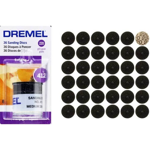 Dremel Medium Sanding Discs #412 Pk of 36