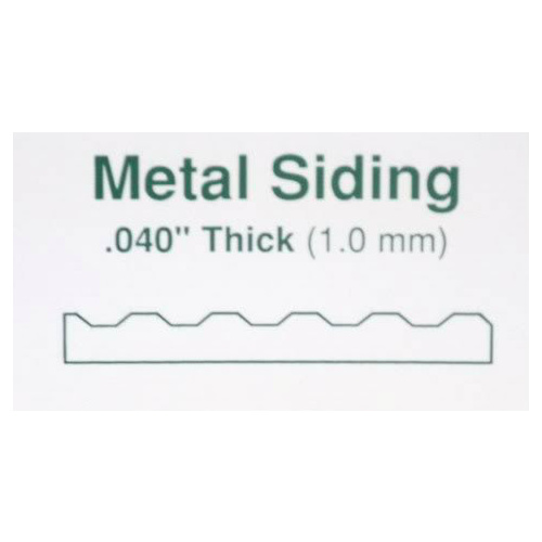 "STYRENE Corrugated Metal Siding Groove Spacing 1.5mm (.060"") 300mm x 600mm (12"" x 24"")"