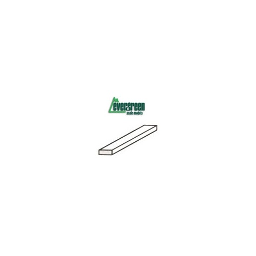 "STYRENE STRIPS HO SCALE 1 X 2 - .28MM (.011"") X .56MM (.022"") - 350MM (14"") 10PC"