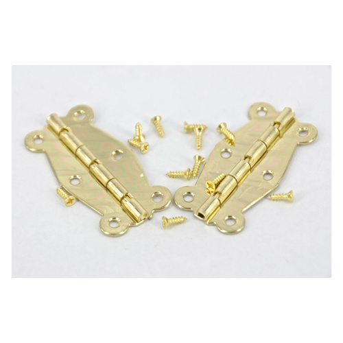 HINGE BRASS #209 GOLD 2 PC/PKT