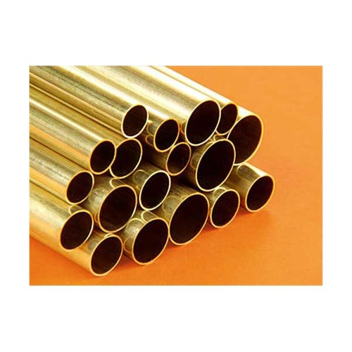 "LARGE ROUND BRASS TUBE ASSORTMENT (18 PIECES, 12 "" LONG)"