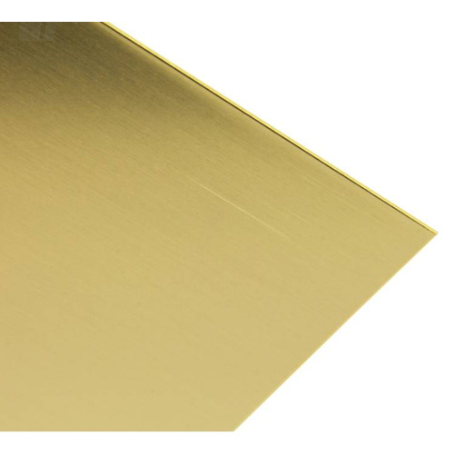 BRASS SHEET 102mm x 254mm x .81mm