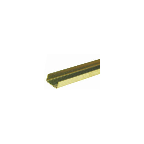 Brass C Channel 1.6mm x .79mm x 300mm 1pc