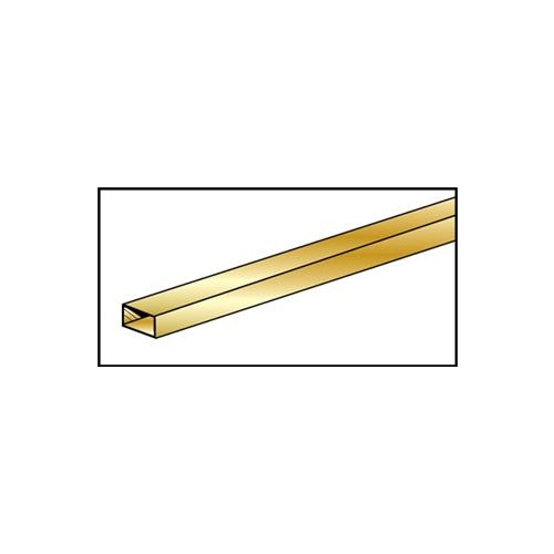 "BRASS RECTANGULAR TUBE 2.38mm x 4.76 x .355mm (3/32"" x 3/16"" x .014"")"