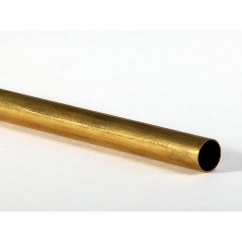 "BRASS RND TUBE 5.0mm x 300mm (12"") 3PC"
